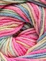 Fiber Content 55% Cotton, 45% Acrylic, Pink, Brand Ice Yarns, Cream, Blue, Yarn Thickness 3 Light  DK, Light, Worsted, fnt2-51447