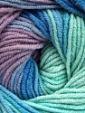 Fiber Content 55% Cotton, 45% Acrylic, Mint Green, Lilac, Brand Ice Yarns, Blue, Yarn Thickness 3 Light  DK, Light, Worsted, fnt2-51450