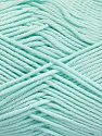 Baby cotton is a 100% premium giza cotton yarn exclusively made as a baby yarn. It is anti-bacterial and machine washable! Fiber Content 100% Giza Cotton, Light Mint Green, Brand Ice Yarns, Yarn Thickness 3 Light  DK, Light, Worsted, fnt2-52561