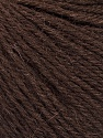 Fiber Content 55% Baby Alpaca, 45% Superwash Extrafine Merino Wool, Brand Ice Yarns, Dark Brown, Yarn Thickness 3 Light  DK, Light, Worsted, fnt2-52761