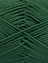 Baby cotton is a 100% premium giza cotton yarn exclusively made as a baby yarn. It is anti-bacterial and machine washable! Fiber Content 100% Giza Cotton, Brand Ice Yarns, Dark Green, Yarn Thickness 3 Light  DK, Light, Worsted, fnt2-53070