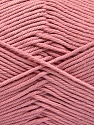 Baby cotton is a 100% premium giza cotton yarn exclusively made as a baby yarn. It is anti-bacterial and machine washable! Fiber Content 100% Giza Cotton, Rose Pink, Brand Ice Yarns, Yarn Thickness 3 Light  DK, Light, Worsted, fnt2-53074