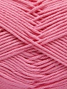 Baby cotton is a 100% premium giza cotton yarn exclusively made as a baby yarn. It is anti-bacterial and machine washable! Fiber Content 100% Giza Cotton, Pink, Brand Ice Yarns, Yarn Thickness 3 Light  DK, Light, Worsted, fnt2-53075
