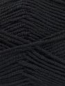 Contenido de fibra 50% De bambú, 50% Acrílico, Brand Ice Yarns, Black, Yarn Thickness 2 Fine  Sport, Baby, fnt2-53087