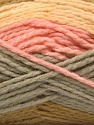 Fiber Content 70% Acrylic, 30% Wool, Pink, Olive Green, Light Yellow, Brand Ice Yarns, Grey, Yarn Thickness 4 Medium  Worsted, Afghan, Aran, fnt2-53553