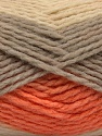Fiber Content 70% Acrylic, 30% Wool, Orange, Brand Ice Yarns, Grey, Cream, Yarn Thickness 4 Medium  Worsted, Afghan, Aran, fnt2-53554