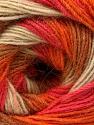 Fiber Content 60% Acrylic, 20% Wool, 20% Angora, Salmon, Orange, Light Brown, Brand Ice Yarns, Cream, Yarn Thickness 2 Fine  Sport, Baby, fnt2-53557