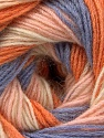 Fiber Content 60% Acrylic, 20% Angora, 20% Wool, Orange, Lilac, Light Pink, Brand Ice Yarns, Cream, Yarn Thickness 2 Fine  Sport, Baby, fnt2-53558