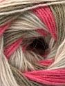 Fiber Content 60% Acrylic, 20% Wool, 20% Angora, Pink Shades, Light Grey, Khaki, Brand Ice Yarns, Yarn Thickness 2 Fine  Sport, Baby, fnt2-53559