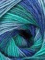 Fiber Content 60% Acrylic, 20% Angora, 20% Wool, Turquoise Shades, Brand Ice Yarns, Blue Shades, Yarn Thickness 2 Fine  Sport, Baby, fnt2-53565