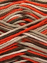 Fiber Content 100% Cotton, Orange, Light Camel, Brand Ice Yarns, Cream, Brown, Yarn Thickness 3 Light  DK, Light, Worsted, fnt2-54350