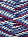 Fiber Content 100% Cotton, White, Maroon, Lilac, Brand Ice Yarns, Blue Shades, Yarn Thickness 3 Light  DK, Light, Worsted, fnt2-54354