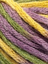 Fiber Content 50% Acrylic, 50% Wool, Yellow, Lilac, Brand Ice Yarns, Green, Yarn Thickness 6 SuperBulky  Bulky, Roving, fnt2-54384