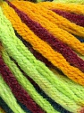 Fiber Content 50% Wool, 50% Acrylic, Neon Green, Brand Ice Yarns, Gold, Burgundy, Blue, Yarn Thickness 6 SuperBulky  Bulky, Roving, fnt2-54412
