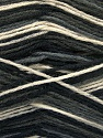 Fiber Content 75% Superwash Wool, 25% Polyamide, Brand Ice Yarns, Grey, Cream, Black, Yarn Thickness 1 SuperFine  Sock, Fingering, Baby, fnt2-54430