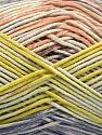 Fiber Content 50% Cotton, 50% Acrylic, Salmon, Lilac, Light Green, Brand Ice Yarns, Yarn Thickness 2 Fine  Sport, Baby, fnt2-54484