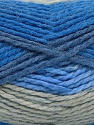 Fiber Content 70% Acrylic, 30% Wool, Brand Ice Yarns, Grey, Blue Shades, Yarn Thickness 4 Medium  Worsted, Afghan, Aran, fnt2-54677