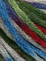 Fiber Content 50% Wool, 50% Acrylic, Brand Ice Yarns, Grey, Green, Burgundy, Blue, Yarn Thickness 6 SuperBulky  Bulky, Roving, fnt2-54767