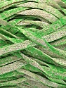 Fiber Content 82% Viscose, 18% Polyester, Brand Ice Yarns, Green, Beige, Yarn Thickness 5 Bulky  Chunky, Craft, Rug, fnt2-55033