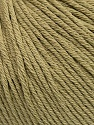 Global Organic Textile Standard (GOTS) Certified Product. CUC-TR-017 PRJ 805332/918191 Fiber Content 100% Organic Cotton, Light Khaki, Brand Ice Yarns, Yarn Thickness 3 Light  DK, Light, Worsted, fnt2-55218