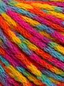 Fiber Content 60% Acrylic, 40% Wool, Yellow, Turquoise, Orange, Brand Ice Yarns, Fuchsia, Yarn Thickness 3 Light  DK, Light, Worsted, fnt2-55537