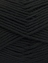Fiber Content 50% SuperFine Nylon, 50% SuperFine Acrylic, Brand Ice Yarns, Black, Yarn Thickness 4 Medium  Worsted, Afghan, Aran, fnt2-56279