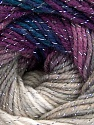 Fiber Content 95% Acrylic, 5% Lurex, Silver, Purple Shades, Brand Ice Yarns, Grey Shades, Blue, Yarn Thickness 3 Light  DK, Light, Worsted, fnt2-56751