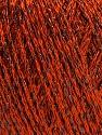 Fiber Content 85% Viscose, 15% Metallic Lurex, Orange, Brand Ice Yarns, Black, Yarn Thickness 3 Light DK, Light, Worsted, fnt2-57042