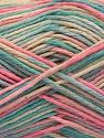 Fiber Content 100% Acrylic, Pink, Mint Green, Light Blue, Brand Ice Yarns, Cream, Yarn Thickness 2 Fine  Sport, Baby, fnt2-57359