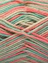 Fiber Content 100% Acrylic, Turquoise, Salmon, Brand Ice Yarns, Cream, Yarn Thickness 2 Fine  Sport, Baby, fnt2-57360