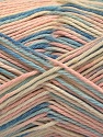 Fiber Content 100% Acrylic, Light Pink, Brand Ice Yarns, Cream, Blue Shades, Yarn Thickness 2 Fine  Sport, Baby, fnt2-57366