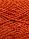 Fiber Content 65% Merino Wool, 35% Silk, Orange, Brand Ice Yarns, Yarn Thickness 3 Light  DK, Light, Worsted, fnt2-57678