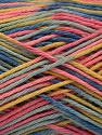 Fiber Content 100% Acrylic, Yellow, Pink, Brand Ice Yarns, Blue Shades, Yarn Thickness 2 Fine  Sport, Baby, fnt2-57935