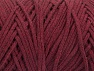 Please be advised that yarn iade made of recycled cotton, and dye lot differences occur. Fiber Content 100% Cotton, Brand Ice Yarns, Burgundy, Yarn Thickness 5 Bulky  Chunky, Craft, Rug, fnt2-60172