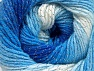 Fiber Content 95% Acrylic, 5% Lurex, White, Brand Ice Yarns, Blue Shades, Yarn Thickness 3 Light  DK, Light, Worsted, fnt2-61100