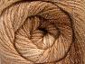 Fiber Content 95% Acrylic, 5% Lurex, Brand Ice Yarns, Cream, Brown Shades, Yarn Thickness 3 Light  DK, Light, Worsted, fnt2-63095