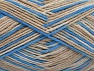 Fiber Content 100% Cotton, Brand Ice Yarns, Cream, Blue, Beige, Yarn Thickness 3 Light  DK, Light, Worsted, fnt2-64032