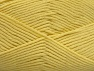 Fiber Content 52% Nylon, 48% Acrylic, Light Yellow, Brand Ice Yarns, Yarn Thickness 4 Medium  Worsted, Afghan, Aran, fnt2-64139