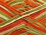 Fiber Content 100% Cotton, White, Orange, Brand Ice Yarns, Green Shades, Yarn Thickness 4 Medium  Worsted, Afghan, Aran, fnt2-64195