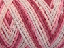 Fiber Content 50% Acrylic, 50% Polyamide, White, Pink Shades, Brand Ice Yarns, Yarn Thickness 4 Medium  Worsted, Afghan, Aran, fnt2-64478