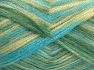 Fiber Content 70% Polyamide, 19% Wool, 11% Acrylic, Turquoise Shades, Light Yellow, Brand Ice Yarns, Yarn Thickness 4 Medium  Worsted, Afghan, Aran, fnt2-64589