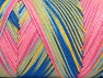 Fiber Content 100% Acrylic, Yellow, Pink, Brand Ice Yarns, Blue Shades, Yarn Thickness 3 Light  DK, Light, Worsted, fnt2-64657