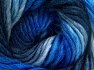 Fiber Content 50% Wool, 50% Acrylic, Brand Ice Yarns, Blue Shades, Yarn Thickness 5 Bulky  Chunky, Craft, Rug, fnt2-65179