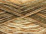 Fiber Content 50% Premium Acrylic, 50% Wool, Brand Ice Yarns, Brown Shades, Beige, Yarn Thickness 4 Medium  Worsted, Afghan, Aran, fnt2-65280