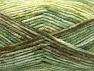 Fiber Content 50% Premium Acrylic, 50% Wool, Brand Ice Yarns, Green Shades, Brown, Yarn Thickness 4 Medium  Worsted, Afghan, Aran, fnt2-65285
