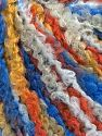 Fiber Content 40% Acrylic, 40% Wool, 20% Polyamide, Orange, Brand Ice Yarns, Gold, Blue Shades, Yarn Thickness 4 Medium  Worsted, Afghan, Aran, fnt2-65532