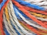 Fiber Content 50% Acrylic, 50% Wool, Orange, Brand Ice Yarns, Gold, Blue Shades, Yarn Thickness 4 Medium  Worsted, Afghan, Aran, fnt2-65660