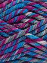 Fiber Content 75% Acrylic, 25% Superwash Wool, Brand Ice Yarns, Fuchsia, Blue Shades, Yarn Thickness 6 SuperBulky  Bulky, Roving, fnt2-65762