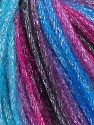 Fiber Content 40% Acrylic, 30% Wool, 30% Metallic Lurex, Turquoise, Brand Ice Yarns, Fuchsia, Black, Yarn Thickness 4 Medium  Worsted, Afghan, Aran, fnt2-65915
