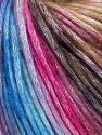 Fiber Content 50% Modal, 35% Acrylic, 15% Wool, Brand Ice Yarns, Fuchsia, Brown Shades, Blue Shades, Yarn Thickness 4 Medium  Worsted, Afghan, Aran, fnt2-65918
